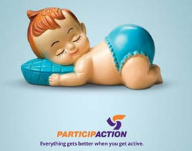 加拿大Participaction公共卫生安全平面广告设计