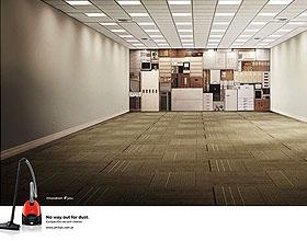 飞利浦吸尘器平面广告设计