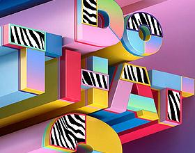 西班牙设计师快乐的字体设计