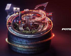 日本普利司通POTENZA轮胎平面广告设计