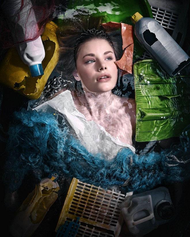 环保包装设计_反对塑料污染主题环保宣传创意广告-中国设计在线