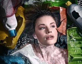 反对塑料污染主题环保宣传创意广告