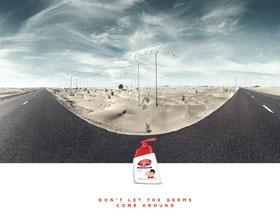 阿联酋Lifebuoy洗手液平面广告设计:不要让细菌四处传播