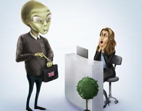 波兰I KNOW英语学校平面广告设计:别害怕