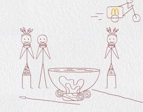 阿联酋麦当劳平面广告设计