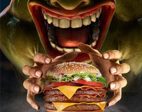 巴西麦当劳平面广告设计-饥饿怪兽