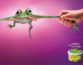 瑞士Lolipop糖果平面广告设计:太甜了不能分享