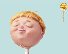 Chupa Chups平面广告设计:甜蜜的逃避