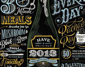 22个创意版式设计和插图创意字体