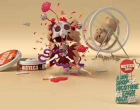 俄罗斯Nictech Trotyl平面广告设计
