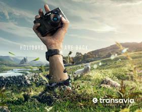 法国Transavia机票平面广告:假期回来了