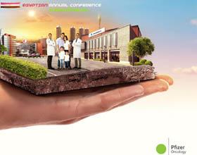 埃及辉瑞公司医疗发展会议平面广告设计