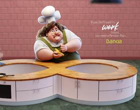 西班牙Bankia养老金计划平面广告