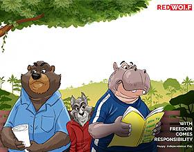 尼日利亚独立日平面广告设计:自由带来责任,独立日快乐