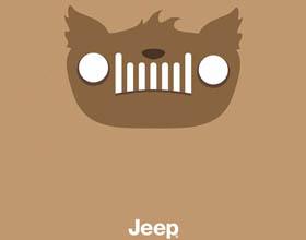 加拿大Jeep万圣节日平面广告设计