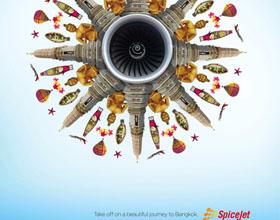 印度SpiceJet平面广告设计