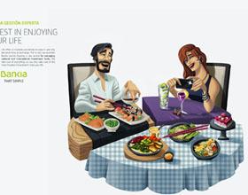 西班牙Bankia投资平面广告:投资享受你的生活