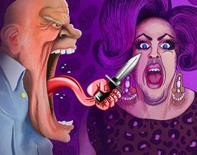 巴西NOIZ公益平面广告:仇恨的言语会害死人