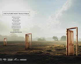 美国Skilled Labor基金平面广告设计