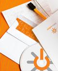 橙色调的smartmatic品牌VI设计