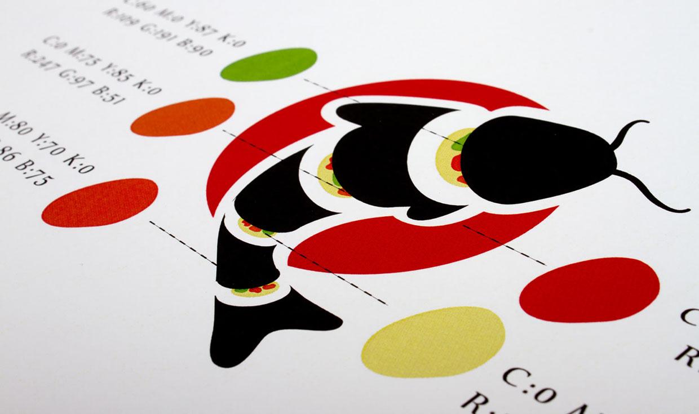 哥倫比亞gunho日本料理餐廳視覺識別設計