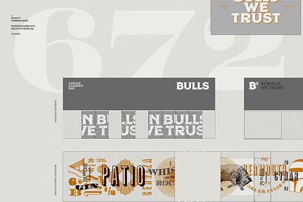 餐饮 | 公牛花园车库酒吧(Bulls)Vi系统。