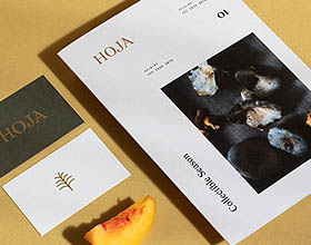 美食创意机构Hoja品牌形象设计
