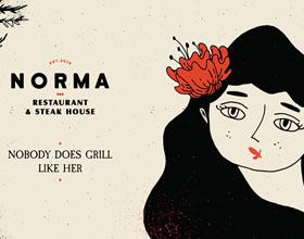 Norma餐厅品牌VI设计