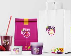 Millimeter品牌蓝莓冷冻甜点VI设计