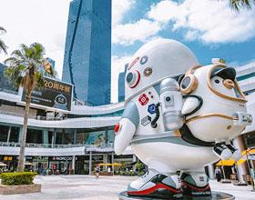 腾讯QQ 20周年主题形象设计:太空企鹅探索科技