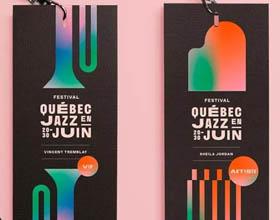 魁北克爵士音乐节视觉形象设计欣赏