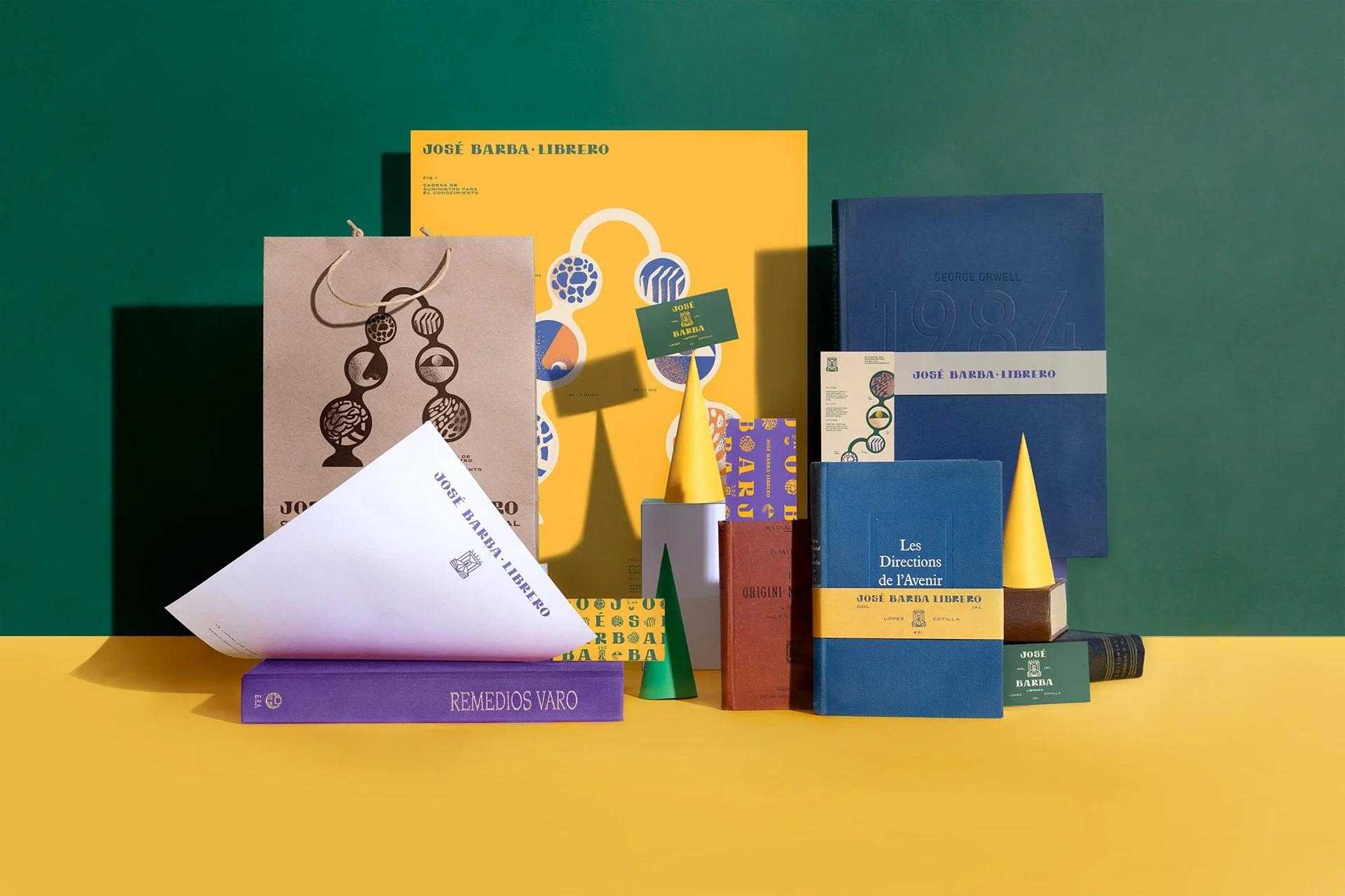 书店José Barba Librero品牌视觉<a href=http://www.ccdol.com/ target=_blank class=infotextkey>设计</a>