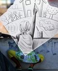 超现实手绘铅笔画与照片的艺术摄影