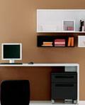 色彩张扬设计简约的书房设计