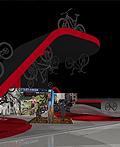 山地自行车展台设计