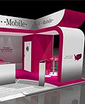 T-Mobile公司室内展台设计