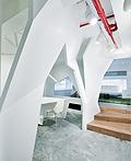 香港折叠空间概念的办公室室内设计