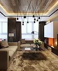俄罗斯现代时尚公寓室内设计