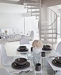时尚的白色公寓室内设计