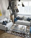 基辅60平米的年轻家庭室内设计