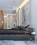 美国私人住宅明亮的主卧设计