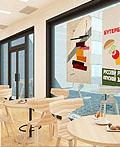 俄罗斯风格三明治吧室内设计