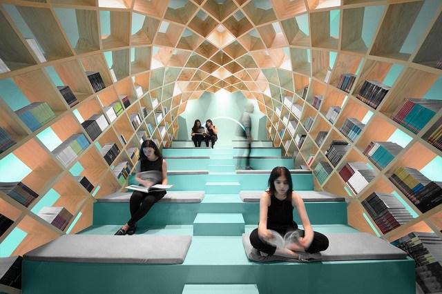 CONARTE 墨西哥图书馆室内装修设计欣赏