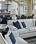 16个国外让人惊叹的蓝色客厅设计