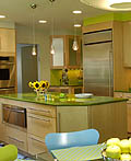 16个用玻璃砖后挡板想法的厨房室内设计