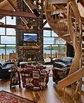 原木室内设计:47个木屋装饰设计理念