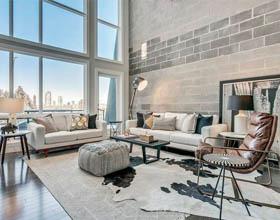 加拿大卡尔加里工业公寓室内设计