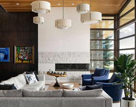 美丽的蒙特利尔皇家现代山住宅室内设计
