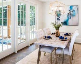 北卡罗莱纳州的传统住宅绿色空间室内设计案例