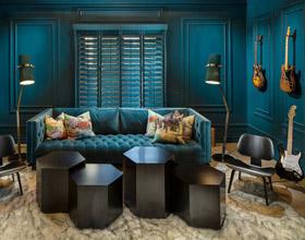 14个与优雅青色搭配的颜色组合室内设计案例